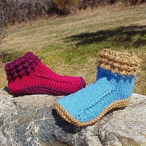 Crocodilly Mocs AllFreeKnitting.com