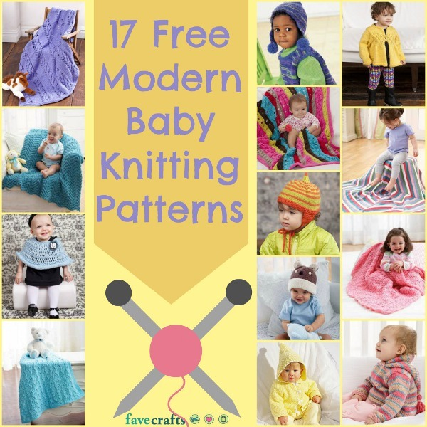 17 free modern baby knitting patterns for Fave crafts knitting patterns