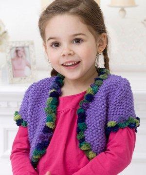 44f434643f30 Girl s Seed Stitch Bolero