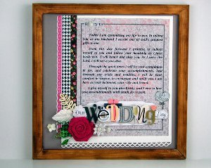Lovely Framed Wedding Vows