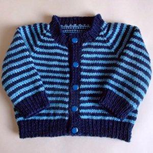 292957a22da5 Simple Striped Baby Cardigan