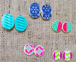 Washi Tape Earrings