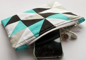 Geometric Diy Makeup Bag