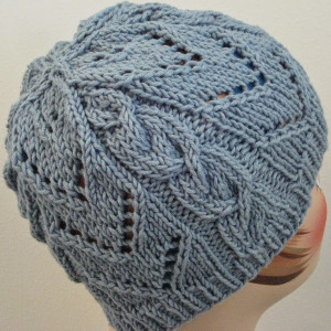 8167e10dd05 Combine some of today s hottest trends with this sophisticated free knit  hat pattern. This Chevrons   Cables Hat combines lace