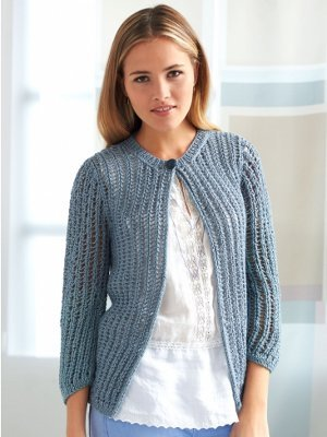Knitting Patterns Ladies Summer Cardigans : Cute and Casual Cardigan AllFreeKnitting.com