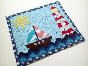 Nautical mug rug applique template and tutorial allfreesewing