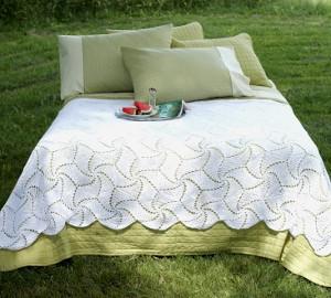 Pinwheel Crochet Bedspread Pattern