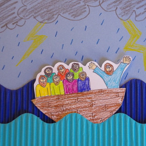 Jesus Calms the Storm Paper Craft AllFreeKidsCrafts