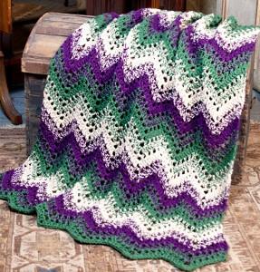 Forest Ripple Crochet Throw Allfreecrochetafghanpatterns Com