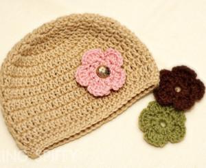 1e46f3c5635 Interchangeable Flower Crochet Hat