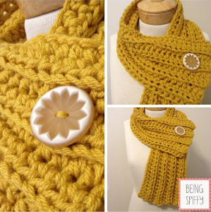 60 Minute Ribbed Crochet Scarf