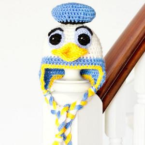 4517193cb Goofy Duck Baby Hat   AllFreeCrochet.com