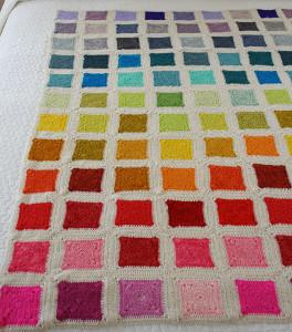 Granny square rainbow baby afghan