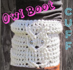 Trendy Owl Boot Cuff Allfreecrochetcom