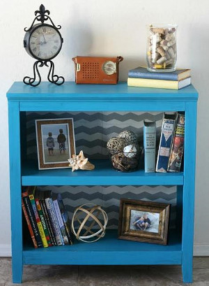 Thrifty Chevron Bookcase