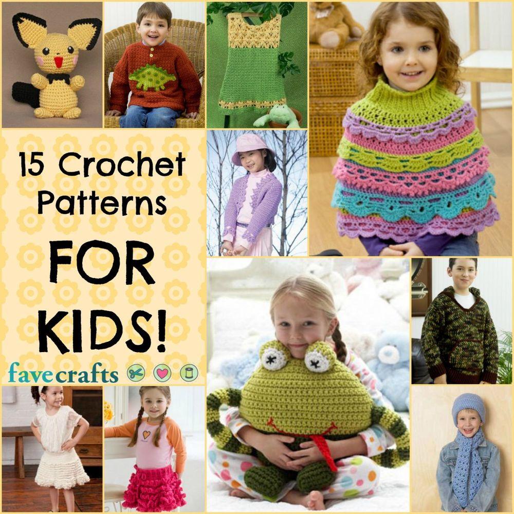 Crochet for kids 15 free crochet patterns for Crochet crafts for kids