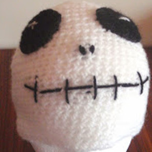 Homemade Crochet Skeleton Beanie