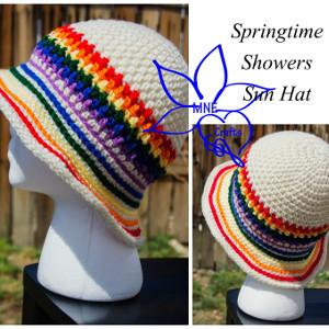a66bf4685e4 Rainbow Stripes Sun Hat