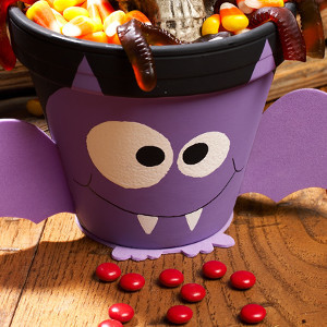 Happy Bat Halloween Pot
