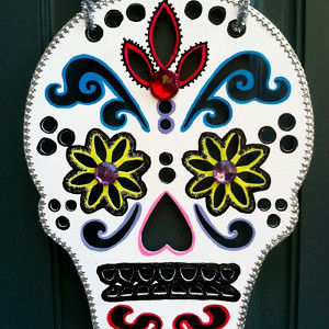 Day of the Dead Skull Door Decoration