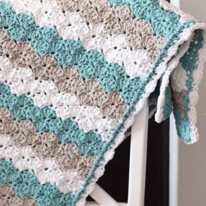 Sea Shell Stitch Baby Blanket Allfreecrochet Com