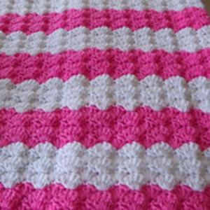 Pink Shell Baby Blanket Allfreecrochetcom