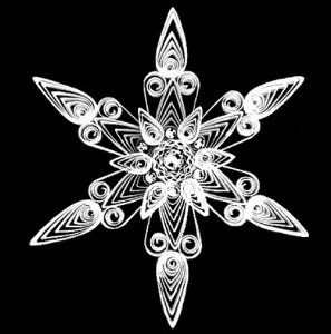 Quilled Snowflake Pattern And Christmas Ornaments