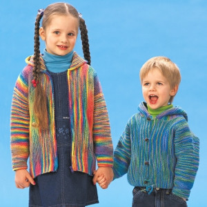 Free Knitting Patterns For Childrens Jackets : Garter Stitch Jackets AllFreeKnitting.com