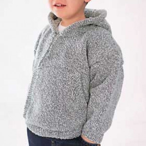 38d871d16362 This simple knit sweater pattern will make your kid look effortlessly cool.  Knit the Cool Kid Hoodie to make sure that everyone in school knows your  child ...