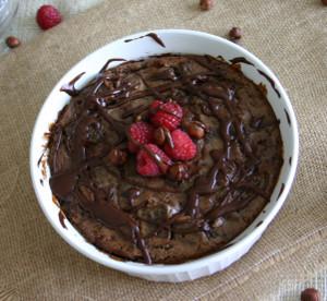 Nutella Raspberry Bread Pudding | FaveGlutenFreeRecipes.com