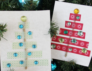 Diy Washi Tape Holiday Cards Allfreeholidaycrafts Com