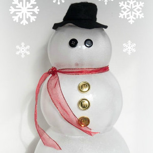 Lovely Glass Bowl Snowman