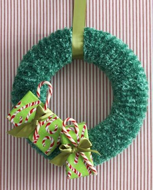 Knitting Pattern for Christmas Wreath