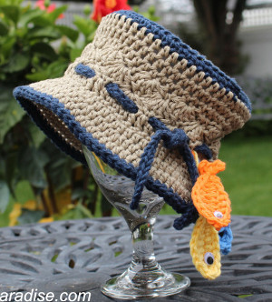 30e092586 Gone Fishin' Baby Hat | AllFreeCrochet.com