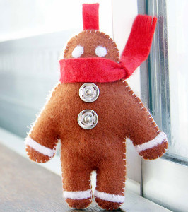 How To Make Gingerbread Man Ornaments Allfreesewing Com