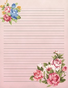 photograph relating to Stationary Printable known as Traditional Blooms Printable Stationery