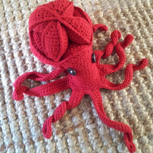 a1a414972b8 Hit the coral reef with this Olive the Octopus Amamani Puzzle. Amamani  means amigurumi Amish puzzle animal