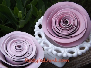 Recycled Record Roses