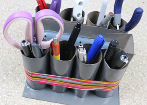 15 Minute Recycled Desk Organizer