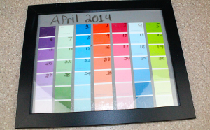 Wipe Away Paint Chip Calendar