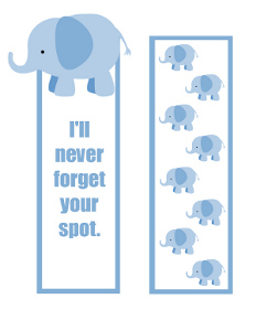 photograph relating to Printable Pictures of Elephants referred to as Printable Elephant Bookmarks That Never ever Fail to remember
