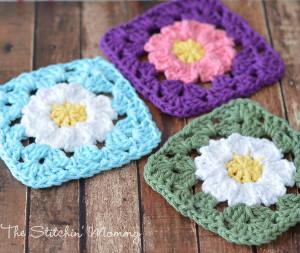 Crochet Daisy Granny Square Allfreecrochet