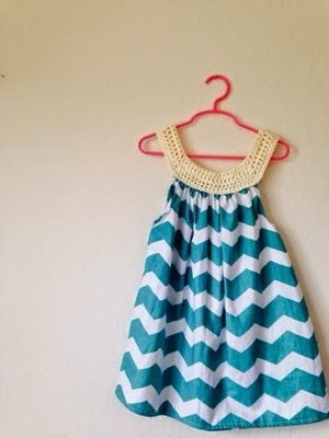 I Feel Pretty Chevron Dress