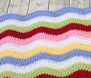 Rainbow Ribbons Crochet Baby Blanket Pattern