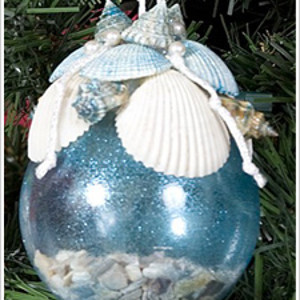 Sparkly Sea Shell Ornament