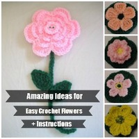 15 Amazing Ideas for Easy Crochet Flowers + Instructions