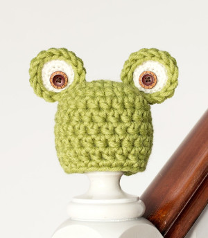 Easy Newborn Frog Hat