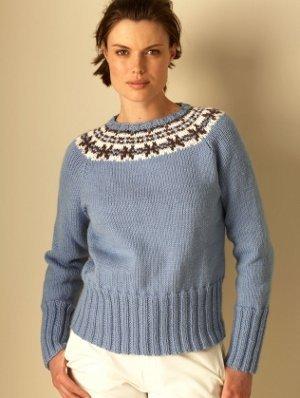 Fashionable Fair Isle Sweater Allfreeknitting Com