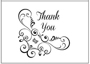 graphic about Printable Thank You Cards Black and White known as Printable Prosper Thank On your own Playing cards