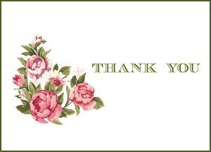 image regarding Printable Thank You Card referred to as Traditional Bouquets Printable Thank By yourself Playing cards
